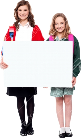 Kids Holding Sign