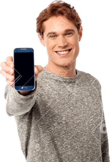 Man Holding Phone